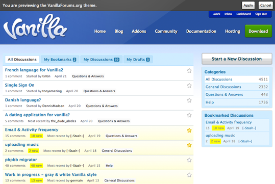 Vanilla Forums WordPress Plugin